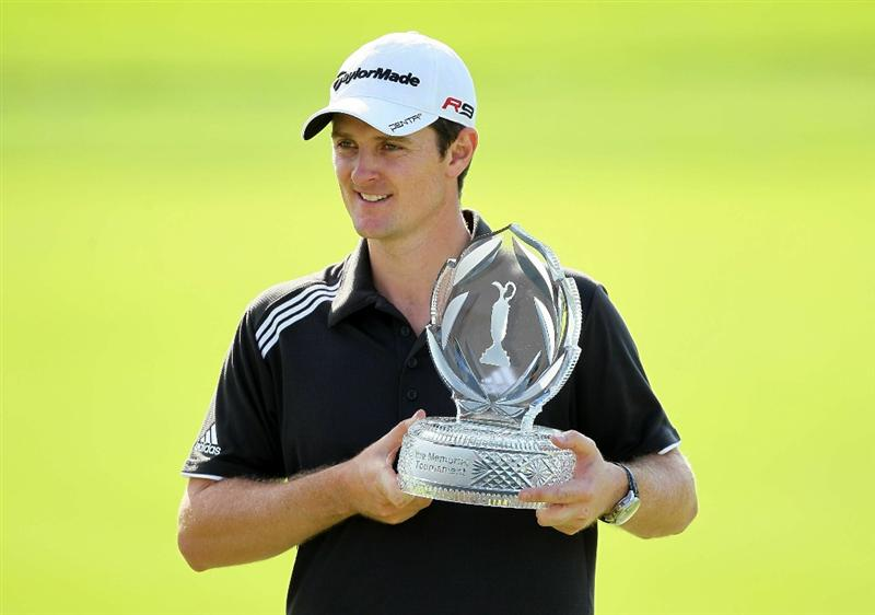DUBLIN, OH - JUNE 06:  Justin Rose of England is pictured after winning The Memorial Tournament presented by Morgan Stanley at Muirfield Village Golf Club on June 6, 2010 in Dublin, Ohio.  (Photo by Andy Lyons/Getty Images)