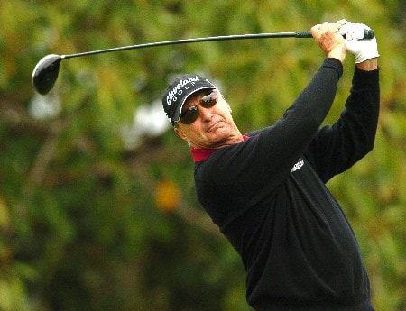 Don Pooley tees off from the sixth hole during the second round of the Champions' Tour 2005 Toshiba Senior Classic at  the Newport Beach Country Club in Newport Beach, California March 19, 2005.