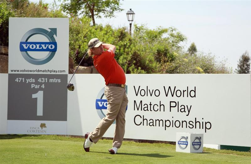 CASARES, SPAIN - MAY 19:  Miguel Angel Jimenez of Spain in action during the group stages of the Volvo World Match Play Championship at Finca Cortesin on May 19, 2011 in Casares, Spain.  (Photo by Andrew Redington/Getty Images)