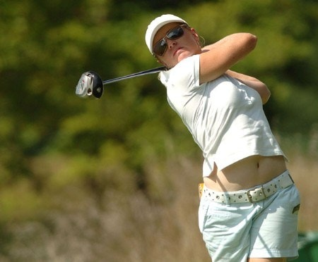 Karen Stupples in action during the final round of the 2005 Wendy's Championship For Children at Tartan Fields Golf Club in Dublin, Ohio August 28, 2005.Photo by Steve Grayson/WireImage.com
