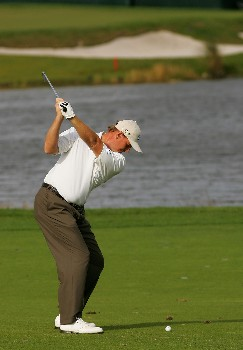 PALM BEACH GARDENS, FL - FEBRUARY 29:  Ernie Els of South Africa hits on the 16th hole during the second round of the Honda Classic at PGA National Resort and Spa on February 29, 2008 in Palm Beach Gardens, Florida.  (Photo by Sam Greenwood/Getty Images)