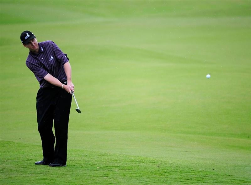 PALM COAST, FL - OCTOBER 31: J.J. Henry plays a shot on the 3rd hole during the final round of the Ginn sur Mer Classic at the Conservatory Golf Club on November 2, 2008 in Palm Coast, Florida.  (Photo by Sam Greenwood/Getty Images)