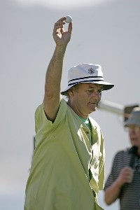 Bill Murry at the 3M Celebrity Challenge during the  AT&T Pebble Beach National Pro-Am at Pebble Beach Golf Links in Pebble Beach, California on February 8, 2006Photo by Chris Condon/PGA TOUR/WireImage.com