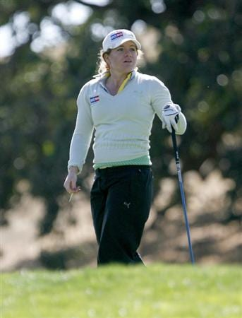DANVILLE, CA - OCTOBER 10: Mikaela Parmlid of Sweden looks at the 13th hole during the second round of the LPGA Longs Drugs Challenge at the Blackhawk Country Club October 10, 2008 in Danville, California. (Photo by Max Morse/Getty Images)