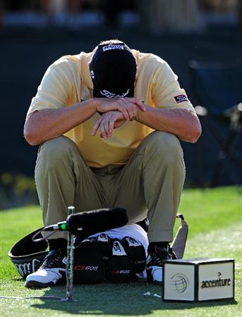 MARANA, AZ - FEBRUARY 17:  Steve Stricker ponders on the 15th hole during round one of the Accenture Match Play Championship at the Ritz-Carlton Golf Club on February 17, 2010 in Marana, Arizona.  (Photo by Stuart Franklin/Getty Images)