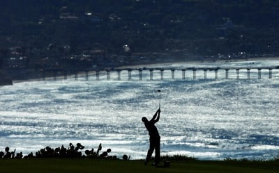 Mark Hensby tees off  during the second round of the Buick Invitational on January 25, 2008 at the Torrey Pines Golf Course in  La Jolla, California. PGA TOUR - 2008 Buick Invitational - Round TwoPhoto by Donald Miralle/Getty Images