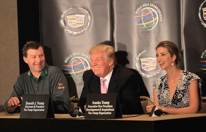 Gil Hanse and Donald and Ivanka Trump