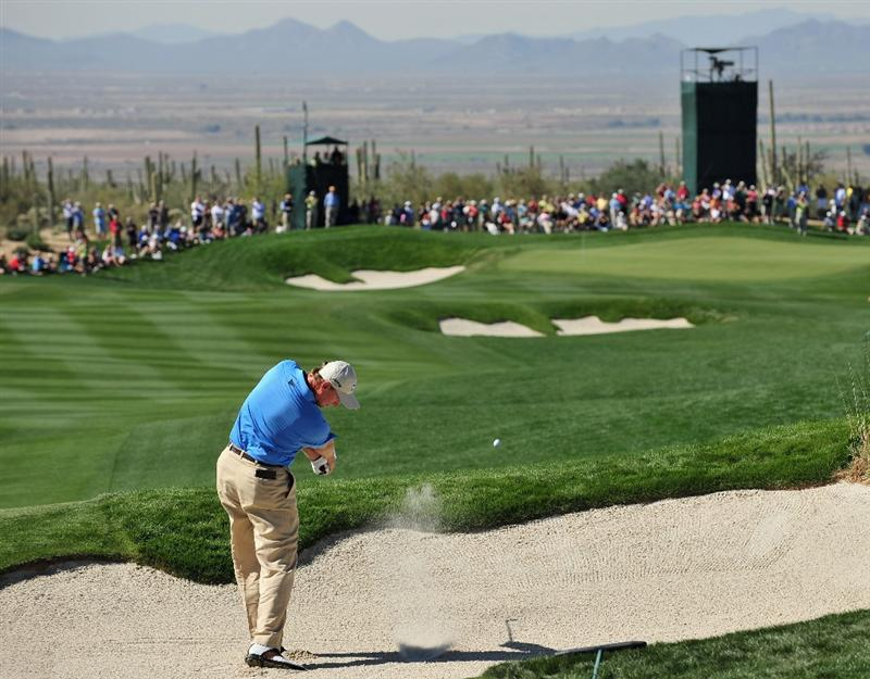 MARANA, AZ - FEBRUARY 27:  Ernie Els of South Africa plays his bunker shot on the second hole during the third round of Accenture Match Play Championships at Ritz - Carlton Golf Club at Dove Mountain on February 27, 2009 in Marana, Arizona.  (Photo by Stuart Franklin/Getty Images)