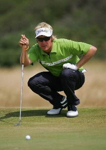 Mikko Ilonen during the second round of the 135th Open Championship at Royal Liverpool Golf Club in Hoylake, Great Britain on July 21, 2006.Photo by Sam Greenwood/WireImage.com