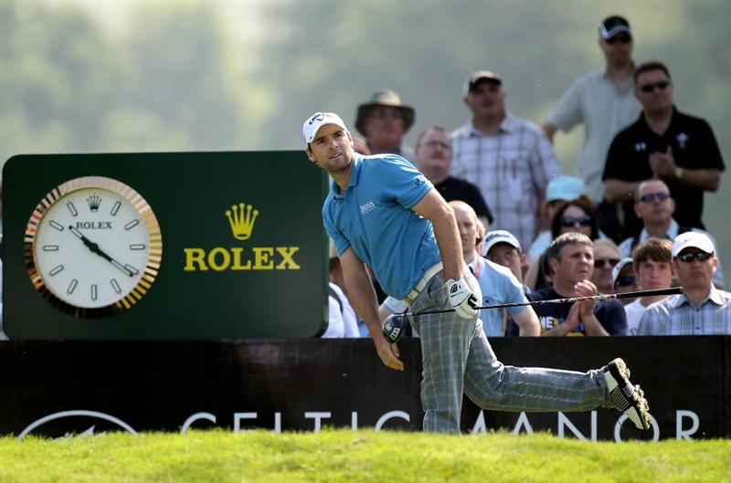NEWPORT, WALES - JUNE 03: Oliver Wilson of England during the first round of the Celtic Manor Wales Open on the 2010 Course at the Celtic Manor Resort on June 3, 2010 in Newport, Wales.  (Photo by Ross Kinnaird/Getty Images)