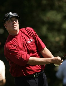 Brett Wetterich during a practice round at the 2007 Wachovia Championship held at the Quail Hollow Country Club in Charlotte, North Carolina on Tuesday, May 1, 2007. Photo by Sam Greenwood/WireImage.com