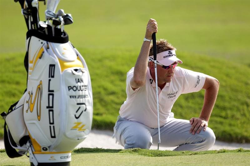 CASARES, SPAIN - MAY 22:  Ian Poulter of England during the final of the Volvo World Match Play Championship at Finca Cortesin on May 22, 2011 in Casares, Spain.  (Photo by Ross Kinnaird/Getty Images)