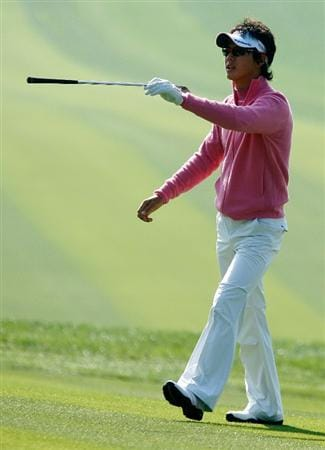 SHANGHAI, CHINA - NOVEMBER 03:  Ryo Ishikawa of Japan walks across a fairway during a practice round prior to the start of the WGC-HSBC Champions at Sheshan International Golf Club on November 3, 2009 in Shanghai, China.  (Photo by Scott Halleran/Getty Images)