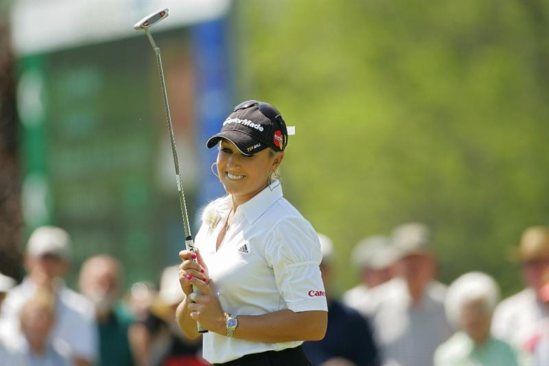 CORNING, NY - MAY 23:  Natalie Gulbis of the United States  during the third round of the LPGA Corning Classic at the Corning Country Club held on May 23, 2009 in Corning, New York.  (Photo by Michael Cohen/Getty Images)