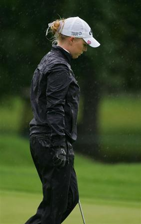 PITTSFORD, NY - JUNE 28: Morgan Pressel of the USA during the final round of the Wegmans LPGA at Locust Hill Country Club held on June 28, 2009 in Pittsford, NY. (Photo by Michael Cohen/Getty Images)