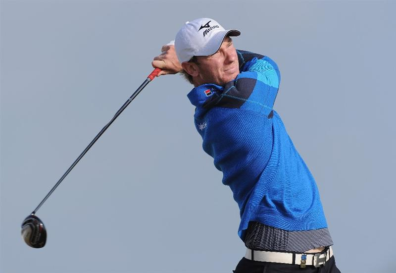 RAGUSA, ITALY - MARCH 18:  Chris Wood of England plays his tee shot on the 14th hole during the second round of the Sicilian Open at the Donnafugata golf resort and spa on March 18, 2011 in Ragusa, Italy.  (Photo by Stuart Franklin/Getty Images)