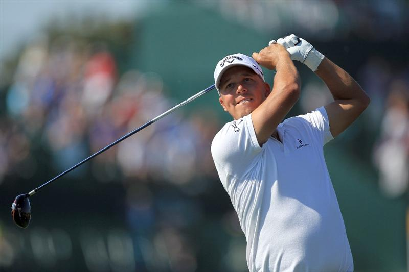 ORLANDO, FL - MARCH 25:  Fredrik Jacobson of Sweden tees off at the 16th hole during the second round of the 2011 Arnold Palmer Invitational presented by Mastercard at the Bay Hill Lodge and Country Club on March 25, 2011 in Orlando, Florida.  (Photo by David Cannon/Getty Images)