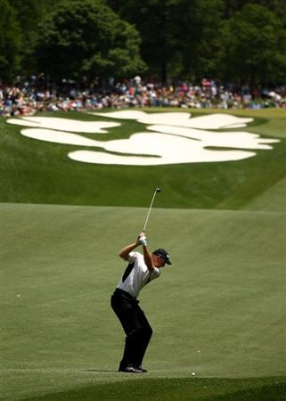 CHARLOTTE, NC - MAY 02:  Jim Furyk plays into the 5th green during the final round of the Quail Hollow Championship at Quail Hollow Country Club on May 2, 2010 in Charlotte, North Carolina.  (Photo by Richard Heathcote/Getty Images)