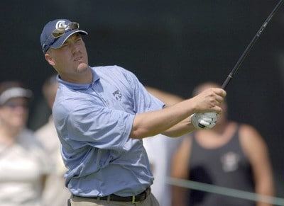 Brett Wetterich during the second round of the U.S. Bank Championship in Milwaukee at Brown Deer Park Golf Course in Milwaukee, Wisconsin, on July 28, 2006.Photo by Steve Levin/WireImage.com