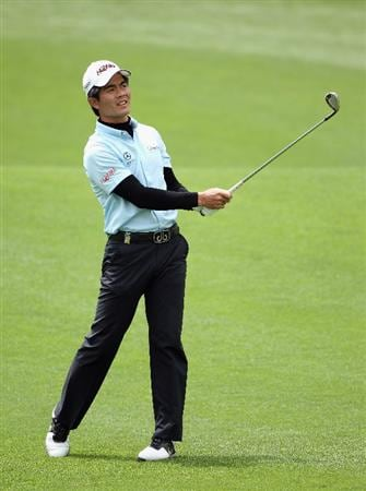ICHEON, SOUTH KOREA - MAY 01:  Liang Wen-chong of China in action during the final round of the Ballantine's Championship at Blackstone Golf Club on May 1, 2011 in Icheon, South Korea.  (Photo by Andrew Redington/Getty Images)