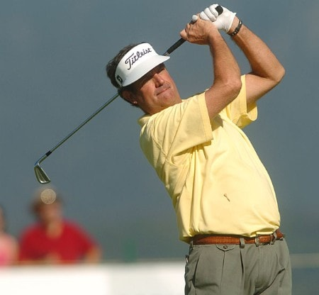 Bruce Lietzke in action during the second round of the 2005 Boeing Greater Seattle Classic at TPC at Snoqualmie Ridge in Snoqualmie, Washington August 20, 2005.Photo by Steve Grayson/WireImage.com