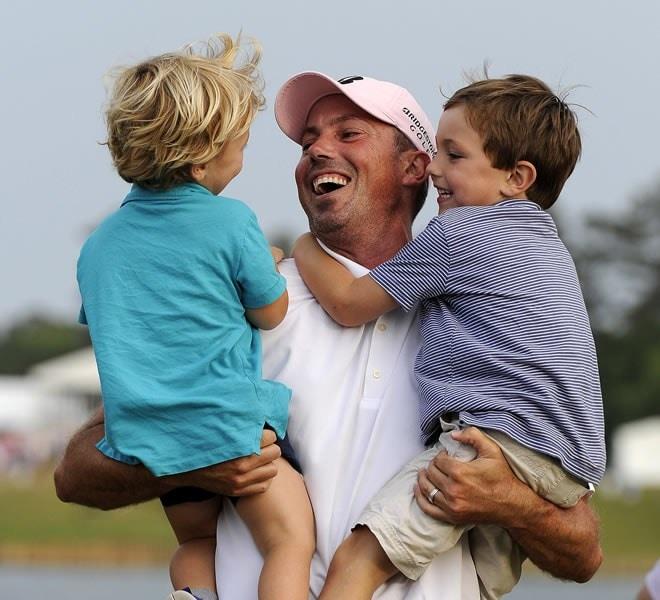 Matt Kuchar and sons Carson and Cameron