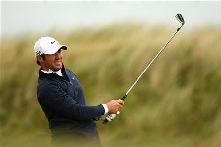 SOUTHPORT, UNITED KINGDOM - JULY 19:  Trevor Immelman of South Africa hits a shot on the 9th during the third round of the 137th Open Championship on July 19, 2008 at Royal Birkdale Golf Club, Southport, England.  (Photo by Richard Heathcote/Getty Images)