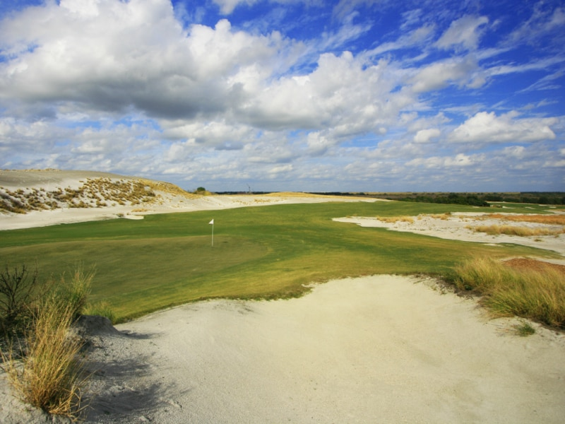 18th hole at Streamsong Red
