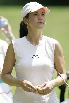 Leta Lindley watches a shot during the first round at the Chick-fil-A Charity Championship, May 12, 2005, at Eagles Landing Country Club, in Stockbridge, GA.Photo by Rex Brown/WireImage.com