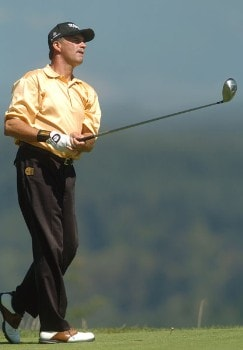 Mike Donald in action during the second round of the 2005 Boeing Greater Seattle Classic at TPC at Snoqualmie Ridge in Snoqualmie, Washington August 20, 2005.Photo by Steve Grayson/WireImage.com