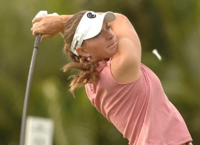 Brittany Lang in action during the second round of the inaugural 2006 Fields Open in Hawaii at Ko Olina Golf Club in Kapolei, Hawaii February 24, 2006.Photo by Steve Grayson/WireImage.com