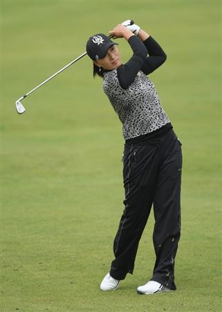 LYTHAM ST ANNES, ENGLAND - AUGUST 01:  Se Ri Pak of Korea hits her second shot to the 2nd hole during the third round of the 2009 Ricoh Women's British Open Championship held at Royal Lytham St Annes Golf Club, on August 1, 2009 in Lytham St Annes, England.  (Photo by David Cannon/Getty Images)