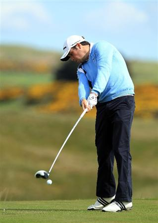 ABERDEEN, SCOTLAND - MAY 12:  Paul Cutler of Ireland during the 2011 Walker Cup Squad practice session at Royal Aberdeen Golf Club on May 12, 2011 in Aberdeen, Scotland.  (Photo by David Cannon/Getty Images)