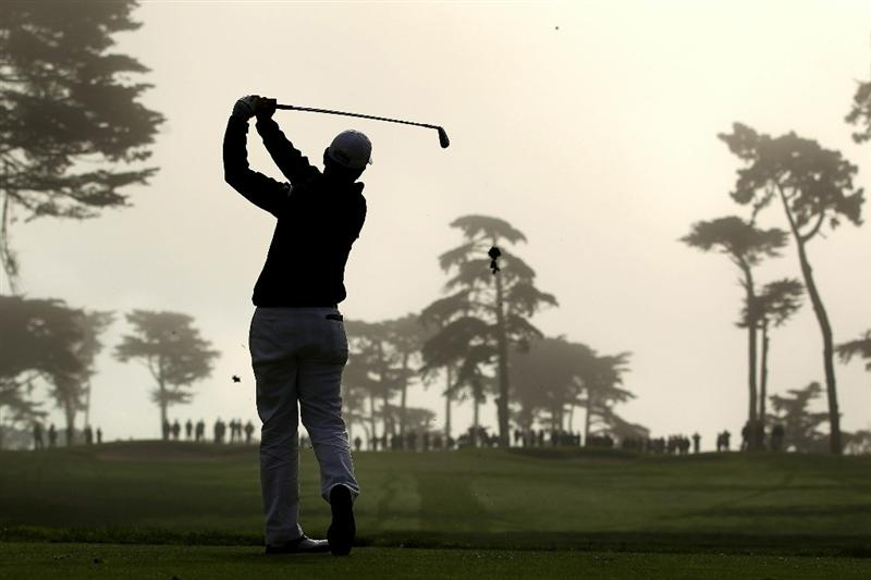 SAN FRANCISCO - NOVEMBER 06:  Tom Pernice Jr. tees off on the 3rd hole during round 3 of the Charles Schwab Cup Championship at Harding Park Golf Course on November 6, 2010 in San Francisco, California.  (Photo by Ezra Shaw/Getty Images)