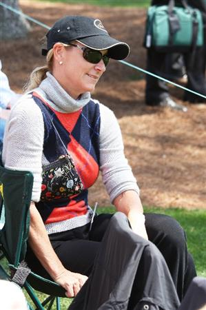 AUGUSTA, GA - APRIL 09:  Tennis legend Chris Evert watches play during the first round of the 2009 Masters Tournament at Augusta National Golf Club on April 9, 2009 in Augusta, Georgia.  (Photo by David Cannon/Getty Images)