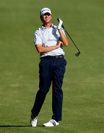 ATLANTA, GEORGIA - SEPTEMBER 27:  Sean O'Hair watches his second shot from the 16th fairway during the final round of THE TOUR Championship presented by Coca-Cola, the final event of the PGA TOUR Playoffs for the FedExCup, at East Lake Golf Club on September 27, 2009 in Atlanta, Georgia.  (Photo by Kevin C. Cox/Getty Images)