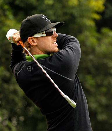 SHANGHAI, CHINA - NOVEMBER 02:  Hunter Mahan of the USA in action during practice prior to the start of the WGC-HSBC Champions at Sheshan International Golf Club on November 2, 2010 in Shanghai, China.  (Photo by Scott Halleran/Getty Images)