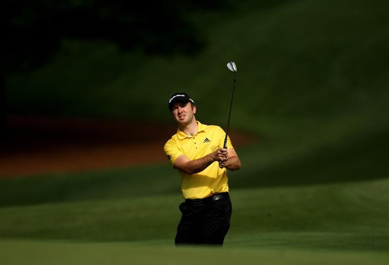 CHARLOTTE, NC - APRIL 27:  Martin Laird of Scotland hits a shot during a practice round for the Quail Hollow Championship at Quail Hollow Country Club on April 27, 2010 in Charlotte, North Carolina.  (Photo by Richard Heathcote/Getty Images)