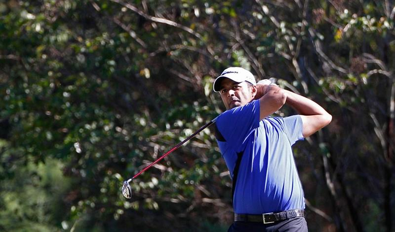MADISON, MS - OCTOBER 02:  Arjun Atwal of India hits his drive on the 16th tee box during the third round of the Viking Classic held at Annandale Golf Club on October 2, 2010 in Madison, Mississippi.  (Photo by Michael Cohen/Getty Images)