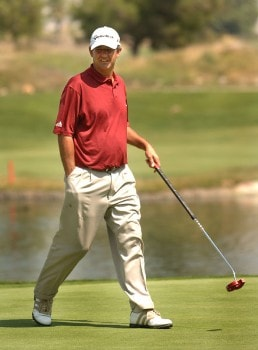 Steve Pate in action during the first roundd of the Nationwide Tour 2005 Mark Christopher Charity Classic Presented by Adelphia at Empire Lakes Golf Course in Rancho Cucamonga, California September 15, 2005.Photo by Steve Grayson/WireImage.com