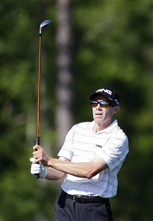HUMBLE, TX - APRIL 01:  Nick O'Hern of Australia hits a shot during the second round of the Shell Houston Open at Redstone Golf Club on April 1, 2011 in Humble, Texas.  (Photo by Michael Cohen/Getty Images)