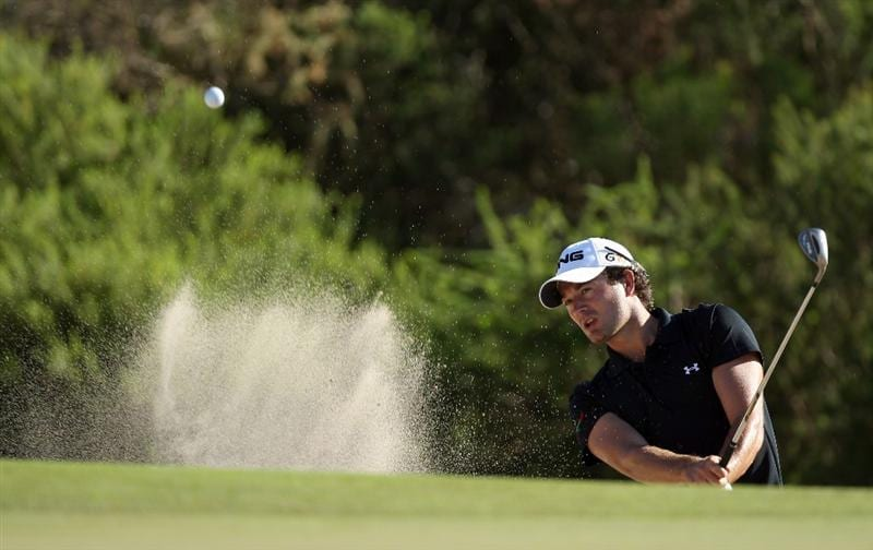 PERTH, AUSTRALIA - FEBRUARY 20:  Gareth Maybin of Northern Ireland hits his third shot at the 12th hole during the second round of the 2009 Johnnie Walker Classic tournament at the Vines Resort and Country Club, on February 20, 2009, in Perth, Australia  (Photo by David Cannon/Getty Images)
