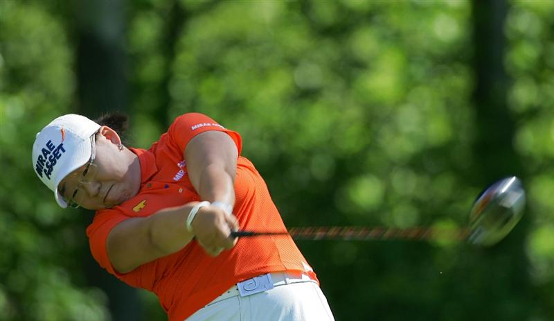 CORNING, NY - MAY 21:  Jiyai Shin of South Korea hits a drive during the first round of the LPGA Corning Classic at the Corning Country Club held on May 21, 2009 in Corning, New York.  (Photo by Michael Cohen/Getty Images)