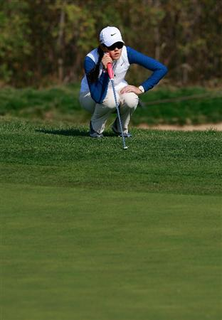 INCHEON, SOUTH KOREA - OCTOBER 30:  Michelle Wie of United States on the 12th hole during the 2010 LPGA Hana Bank Championship at Sky 72 Golf Club on October 30, 2010 in Incheon, South Korea.  (Photo by Chung Sung-Jun/Getty Images)