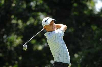 SILVIS, IL - JULY 15:  Nathan Green during the final round of The John Deere Classic at the TPC Deere Run on July 15, 2007 in Silvis, Illinois. (Photo by Marc Feldman/WireImage) *** Local Caption *** Nathan Green PGA TOUR - 2007 John Deere Classic - Final RoundPhoto by Marc Feldman/WireImage) *** Local Caption *** Nathan Green