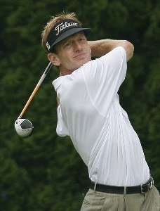 Brad Faxon during the first round of the Buick Championship held at TPC River Highlands in Cromwell, Connecticut, on June 29, 2006.Photo by Jim Rogash/WireImage.com