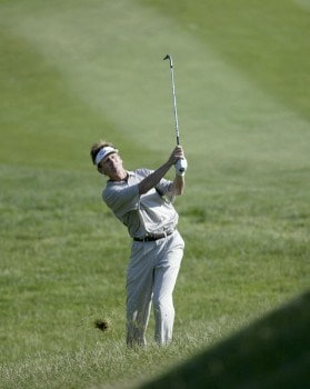Brad Faxon escapes from heavy rough during the second round of the 2005 Barclays Classic at Westchester Country Club in  Harrison, New York on June 24, 2005.Photo by Michael Cohen/WireImage.com
