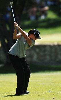 Dorothy Delasin in action during the second round of the 2005 LPGA  Takefuji Classic at the Las Vegas Country Club in Las Vegas, Nevada, April 15, 2005Photo by Steve Grayson/WireImage.com
