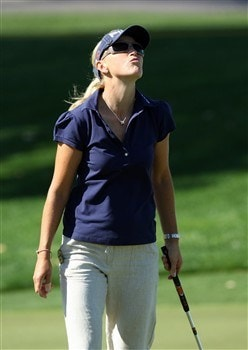 RANCHO MIRAGE, CA - APRIL 3:  Carin Koch of Sweden just misses an eagle putt at the second hole during the first round of the Kraft Nabisco Championship at the Mission Hills Country Club April 3, 2008 in Rancho Mirage, California.  (Photo by David Cannon/Getty Images)