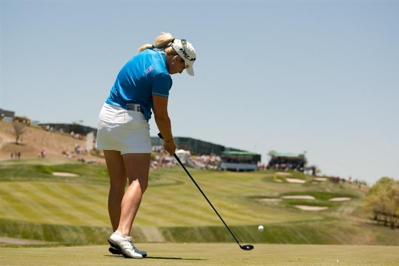 MORELIA, MEXICO - MAY 2: Brittany Lincicome plays a tee shot during the fourth round of the Tres Marias Championship at the Tres Marias Country Club on May 2, 2010 in Morelia, Mexico. (Photo by Darren Carroll/Getty Images)